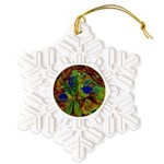 Magical Dragonfly Design Snowflake Ornament