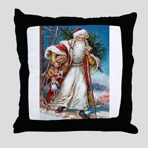 Victorian St. Nicholas Throw Pillow