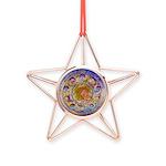 Rust Wheel Copper Star Ornament