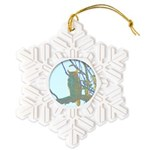 Psychedelic Owl Snowflake Ornament