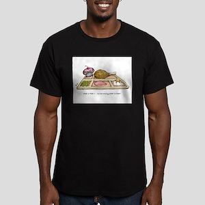 I SURVIVED THE SWINE FLU Men's Fitted T-Shirt (dar