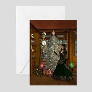 Steampunk Christmas Greeting Cards (Pk of 10)