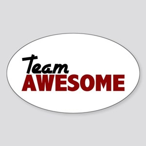 Team Awesome Sticker (Oval)