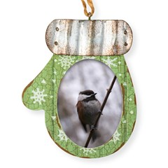 Chickadee Winter Mitten Ornament