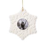 Chickadee Winter Snowflake Ornament