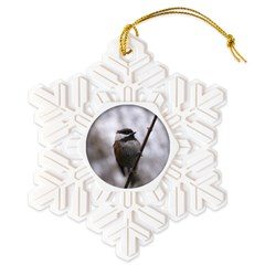 Chickadee Winter Snowflake Ornament