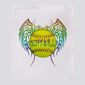 Tribal softball Throw Blanket