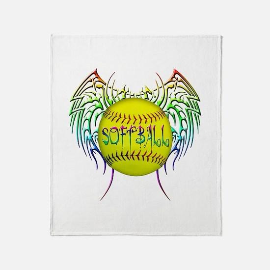 Tribal softball Throw Blanket