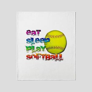 Eat sleep soft 2 Throw Blanket