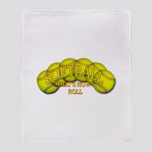 Softballs roll Throw Blanket
