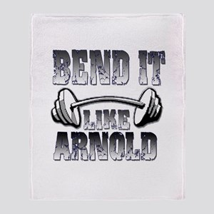 Bend it Throw Blanket
