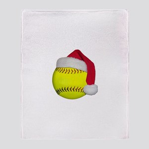 Softball Santa Throw Blanket