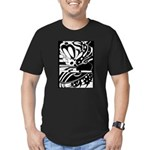 Abstract Men's Fitted T-Shirt (dark)