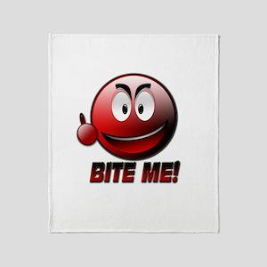Bite me Throw Blanket