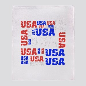USA grouping Throw Blanket