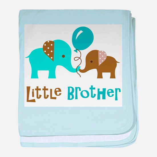 Little Brother - Mod Elephant baby blanket