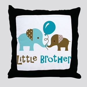 Little Brother - Mod Elephant Throw Pillow