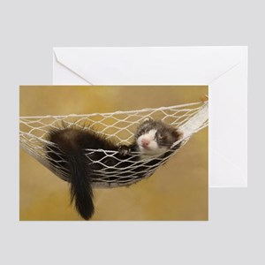 LOUNGING FERRET Greeting Cards (Pk of 10)