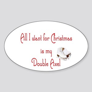 Double Axel for xmas Sticker (Oval)