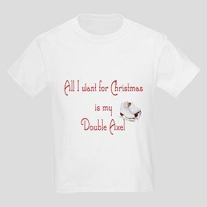 Double Axel for xmas Kids Light T-Shirt