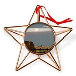 Prairie Moonscape Copper Star Ornament
