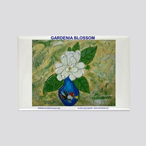 Gardenia in Bud Vase Rectangle Magnet