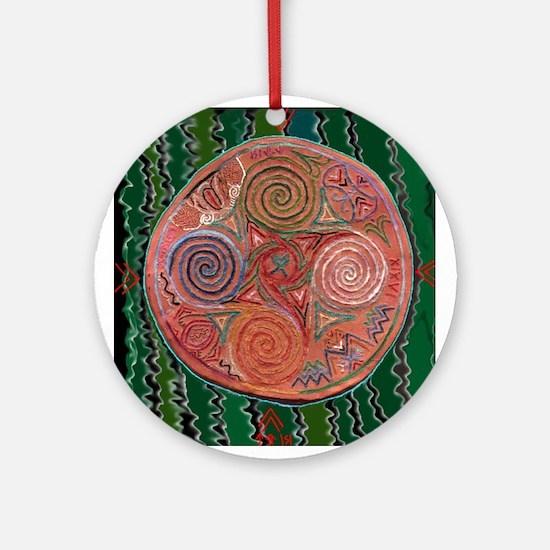 Neolithic Mandala Ornament (Round)