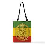 Jah Rastafari Lion of Judah Polyester Tote Bag