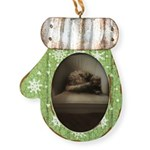 Cat Lounge Mitten Ornament