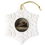 Cat Lounge Snowflake Ornament