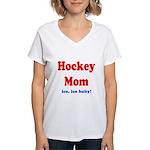 Hockey Mom Women's V-Neck T-Shirt