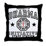 Dharma Staff Station Throw Pillow