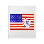 ILY Flag Throw Blanket