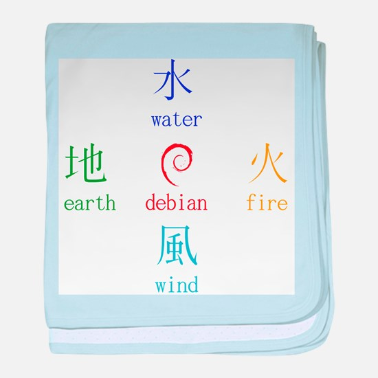 Elements of Debian baby blanket