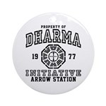 Dharma Arrow Station Ornament (Round)
