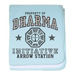 Dharma Arrow Station baby blanket