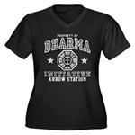 Dharma Arrow Station Women's Plus Size V-Neck Dark