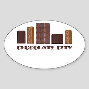 Chocolate City Oval Sticker