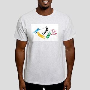 Winter Sports Ash Grey T-Shirt