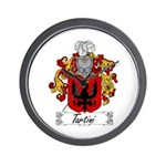 Tartini Coat of Arms Wall Clock