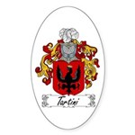 Tartini Coat of Arms Oval Sticker