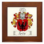 Tartini Coat of Arms Framed Tile