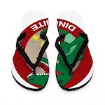 Dino-mite Flip Flops