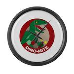 Dino-mite Large Wall Clock