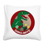 Dino-mite Square Canvas Pillow