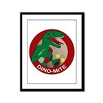 Dino-mite Framed Panel Print