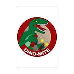 Dino-mite Mini Poster Print