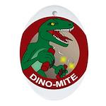 Dino-mite Oval Ornament