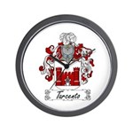 Tarcento Family Crest Wall Clock