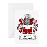 Tarcento Family Crest Greeting Cards (Pk of 10